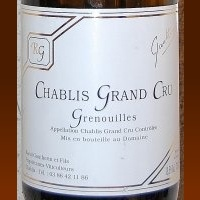 Domaine Raoul Gautherin & Fils - Grenouilles 2013 (Chablis Grand Cru - white)